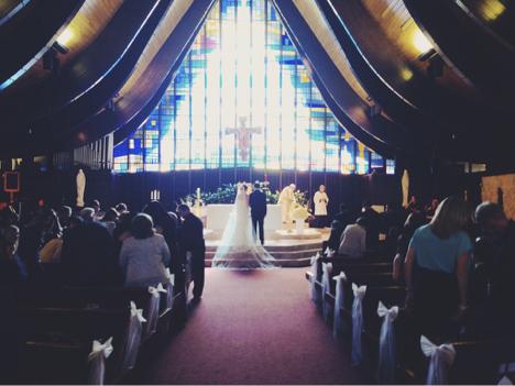 St Hugh Catholic Church Wedding