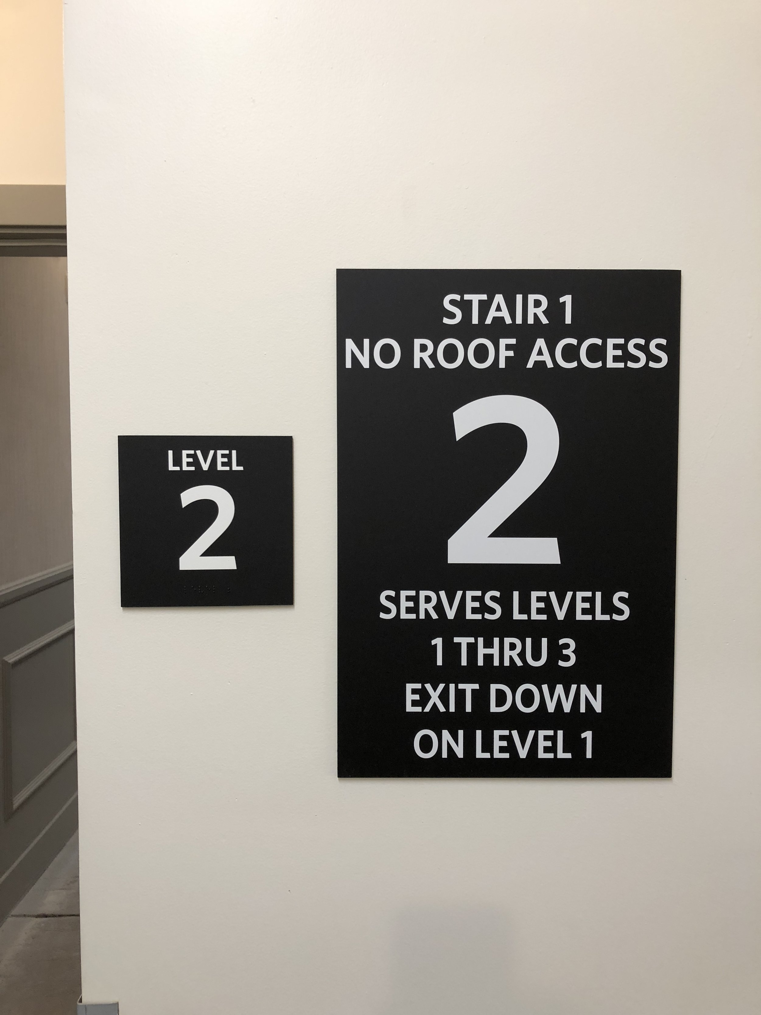 Stairwell Signs
