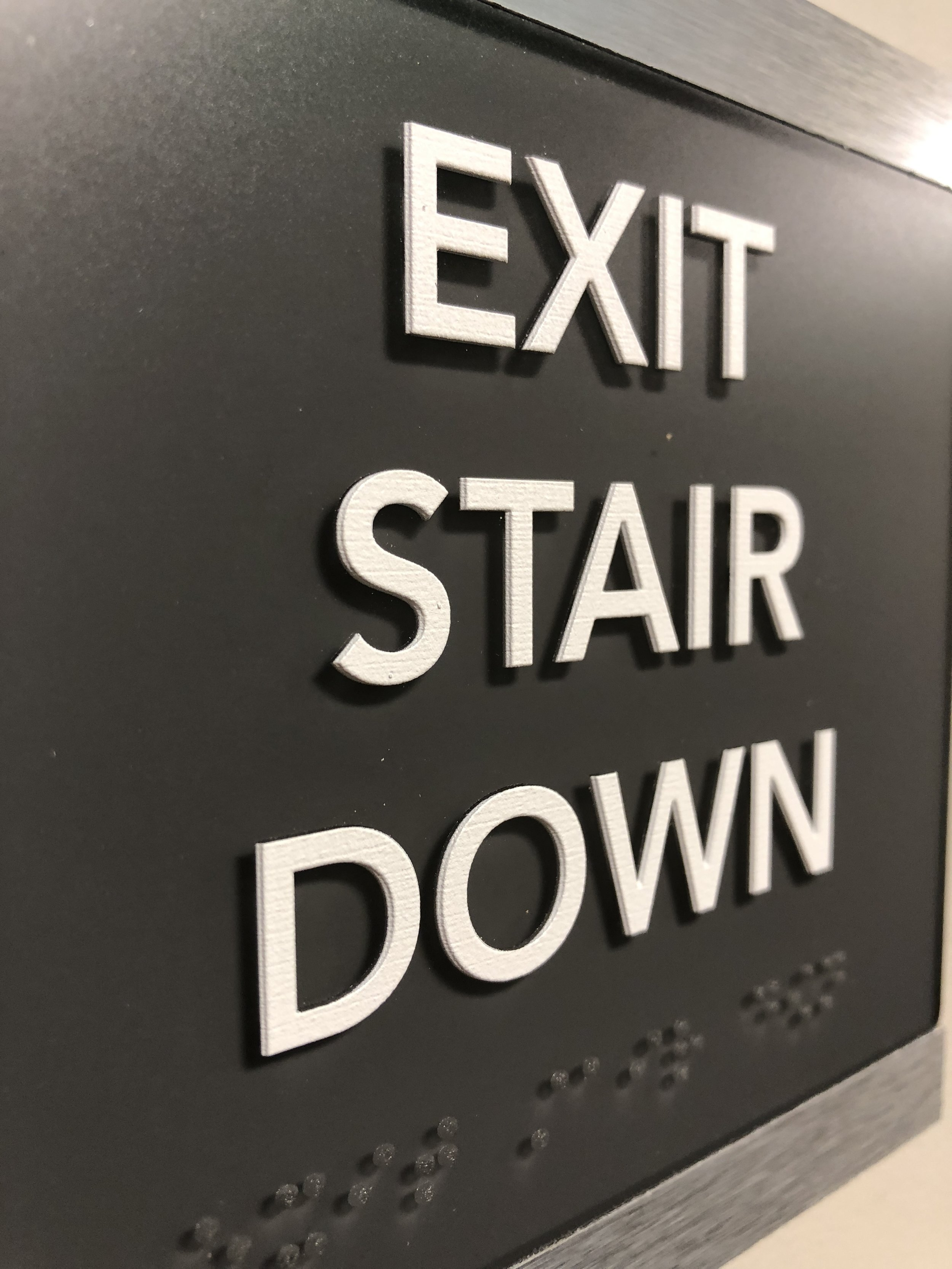 ADA Exit Stair Sign