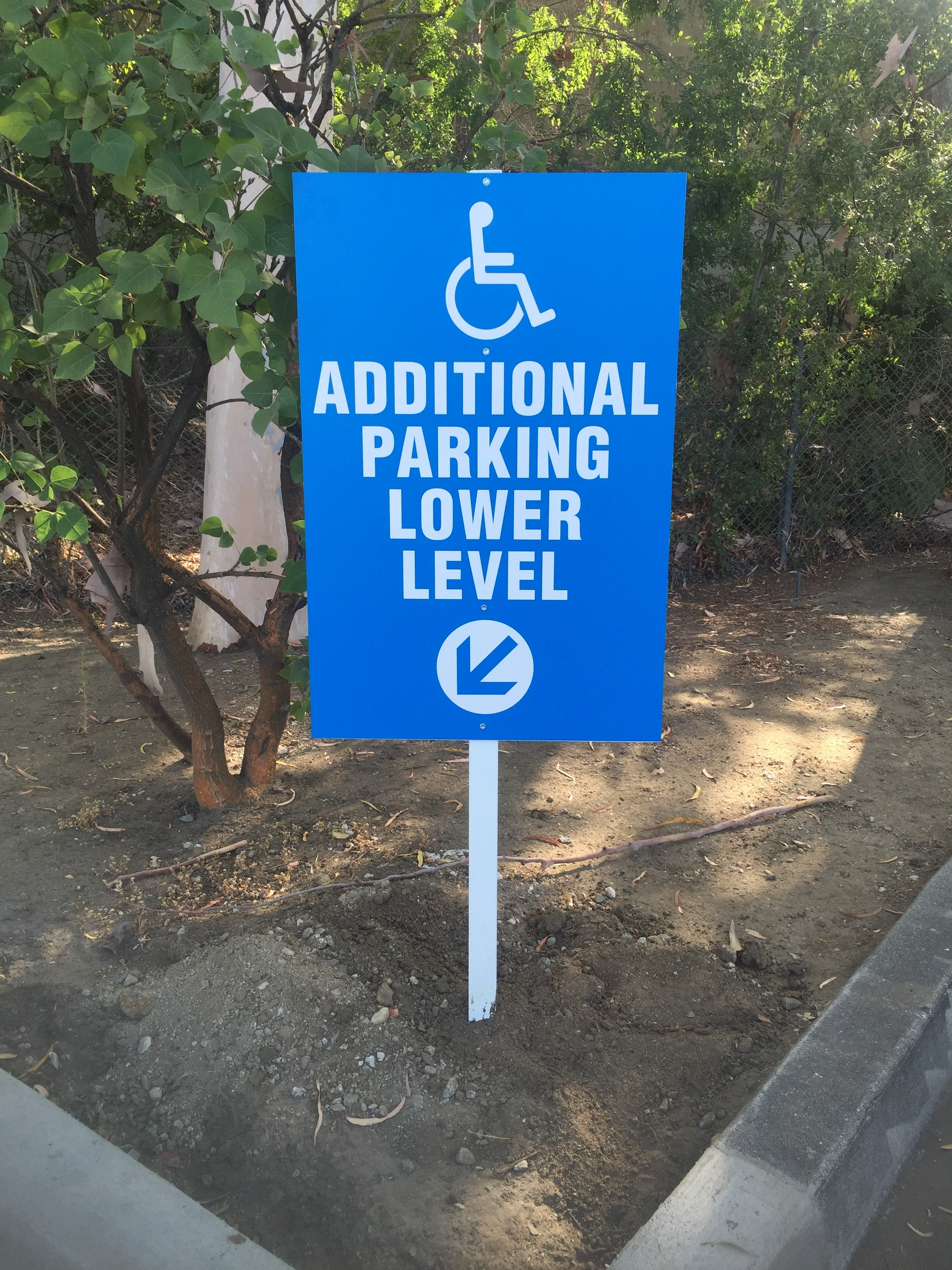 Additional Parking Post Sign