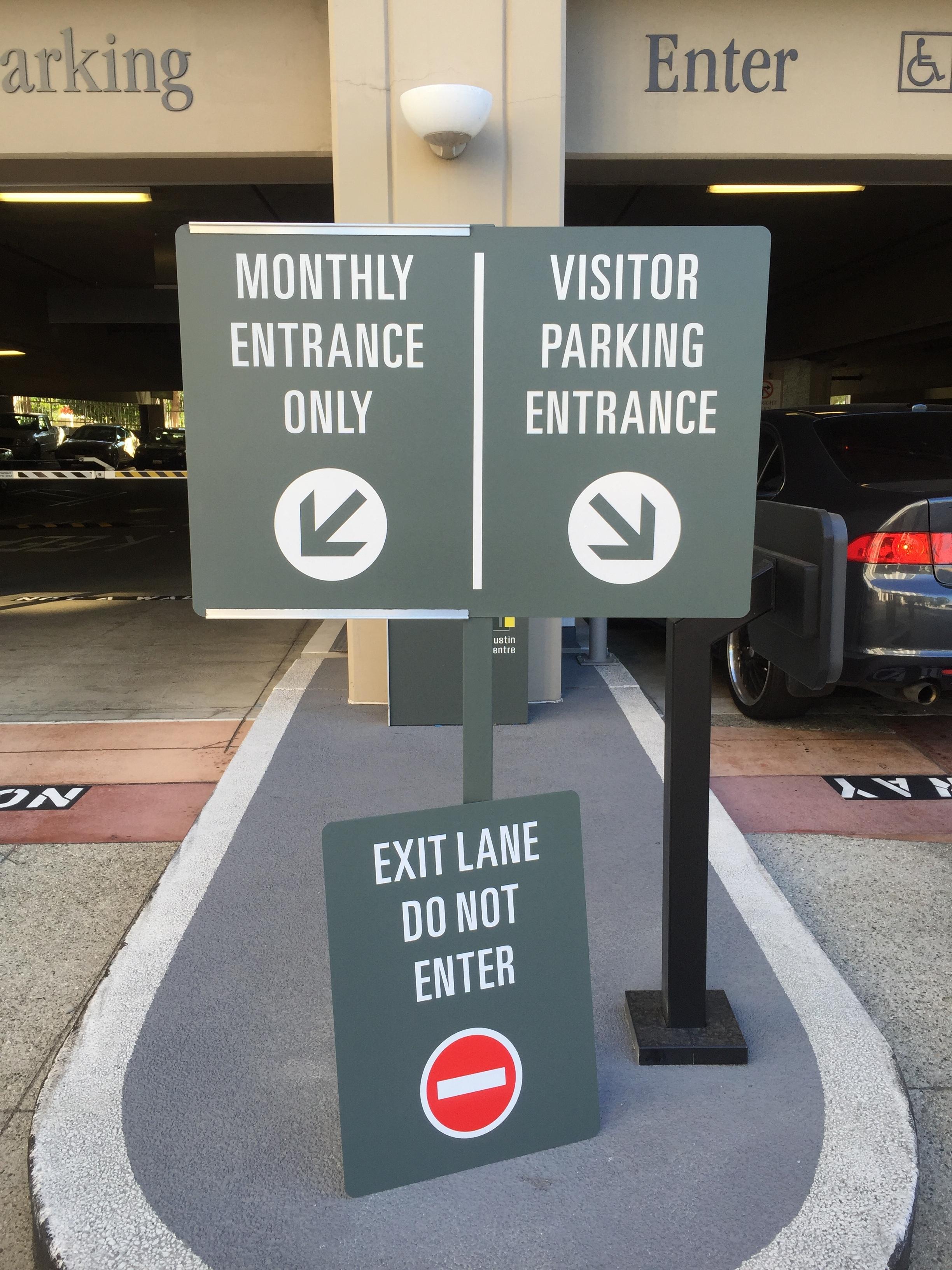 Parking Entrance Exit Sign