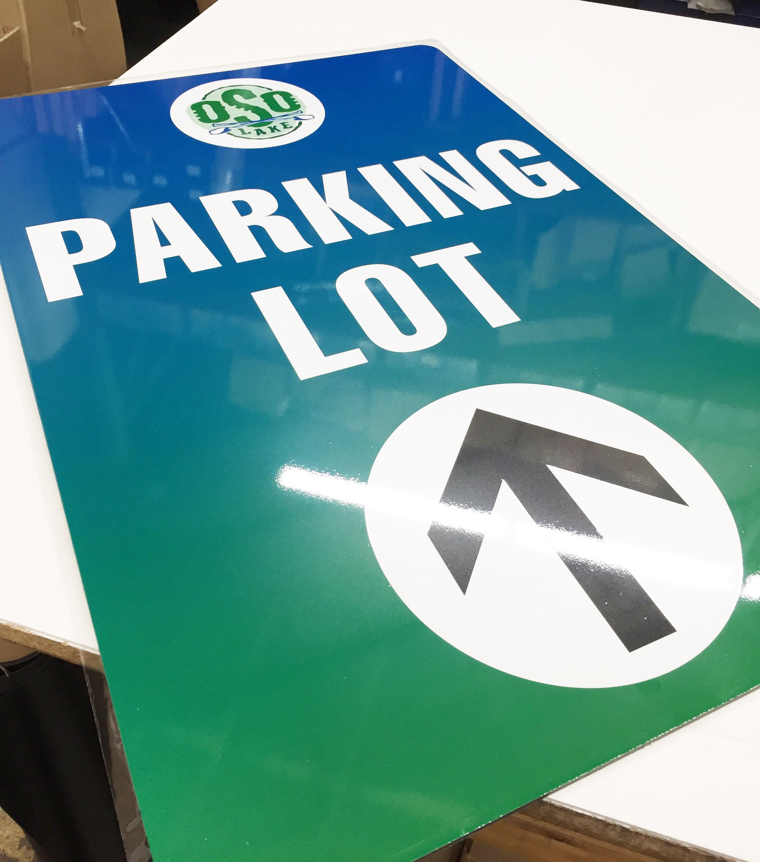 Parking Sign Directional Aluminum