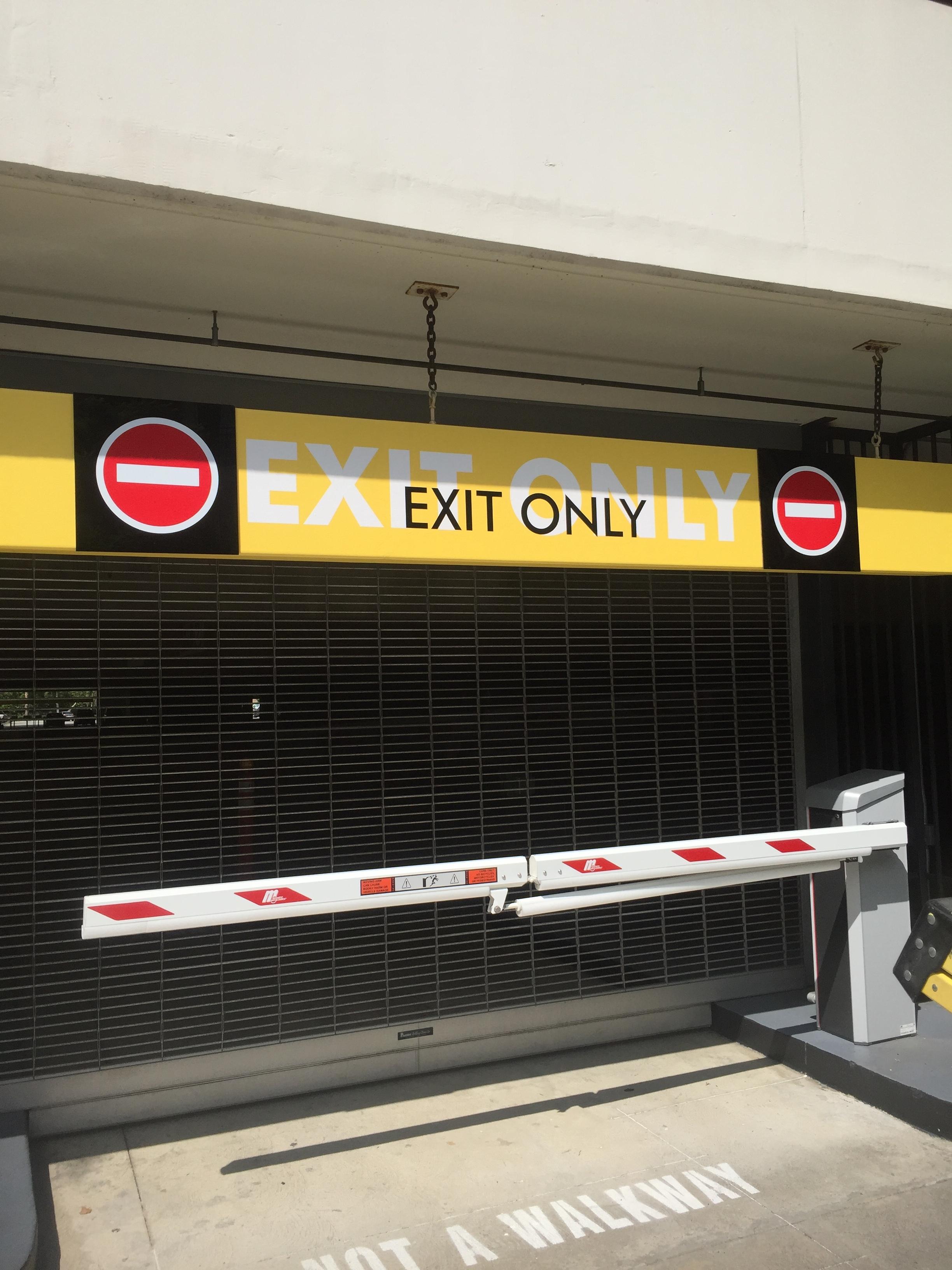Parking Exit Graphics