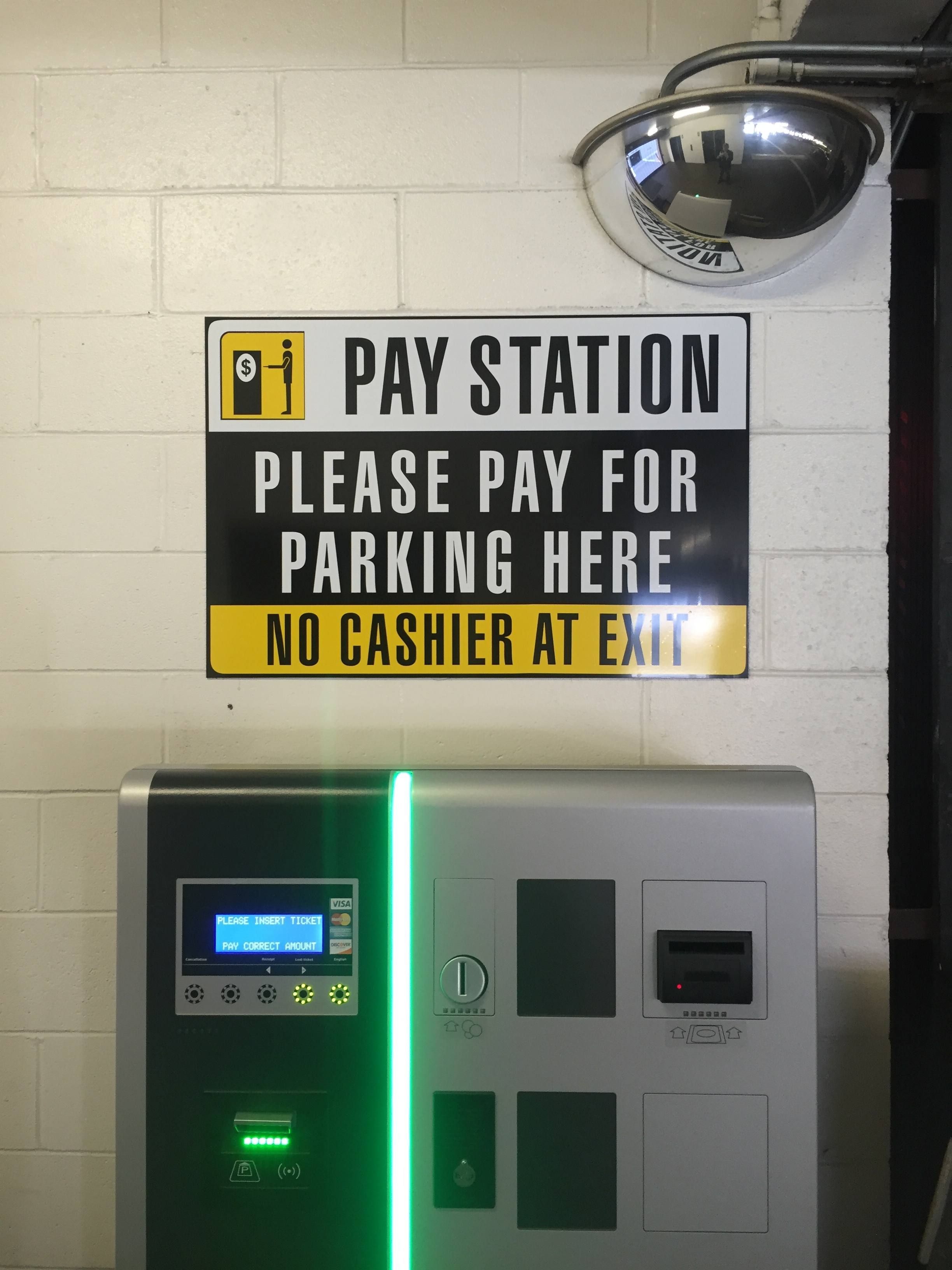 Parking Pay Station Sign