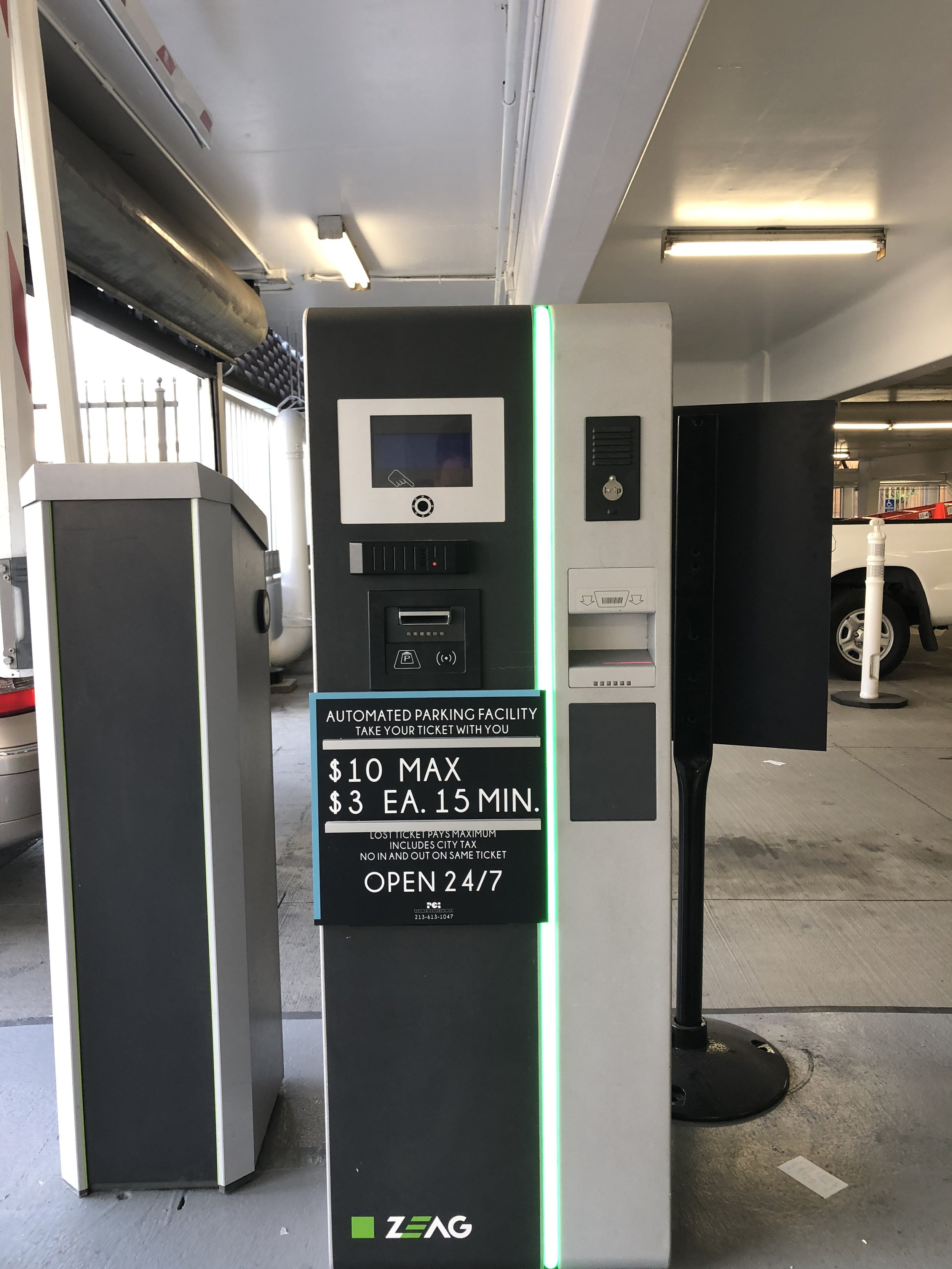 Parking Rate Equipment Sign