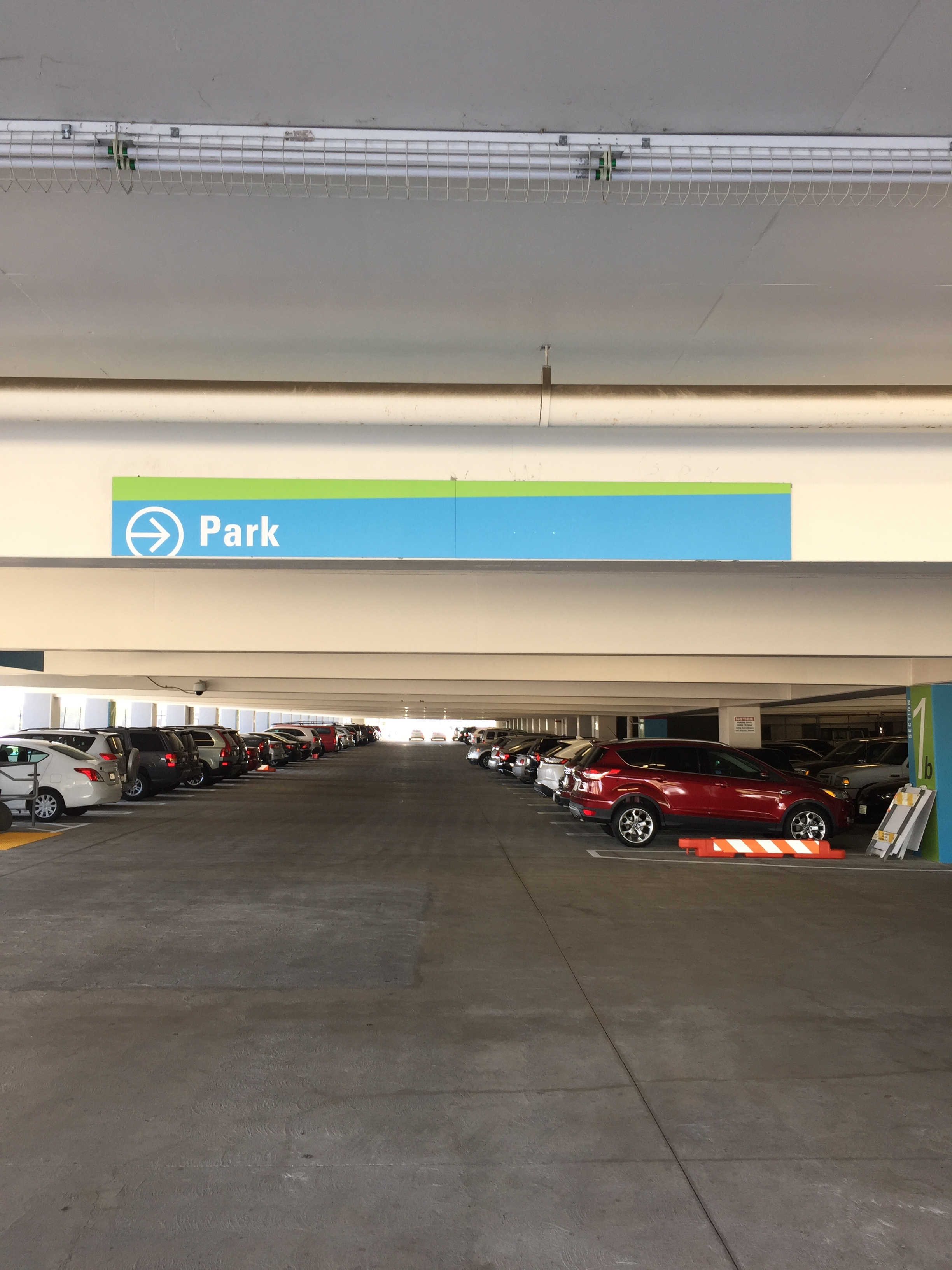 Parking Directional Sign