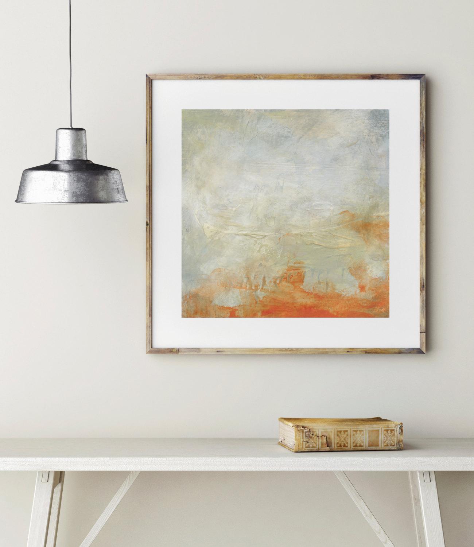 Kierstie Masih's orange streak abstract giclée print