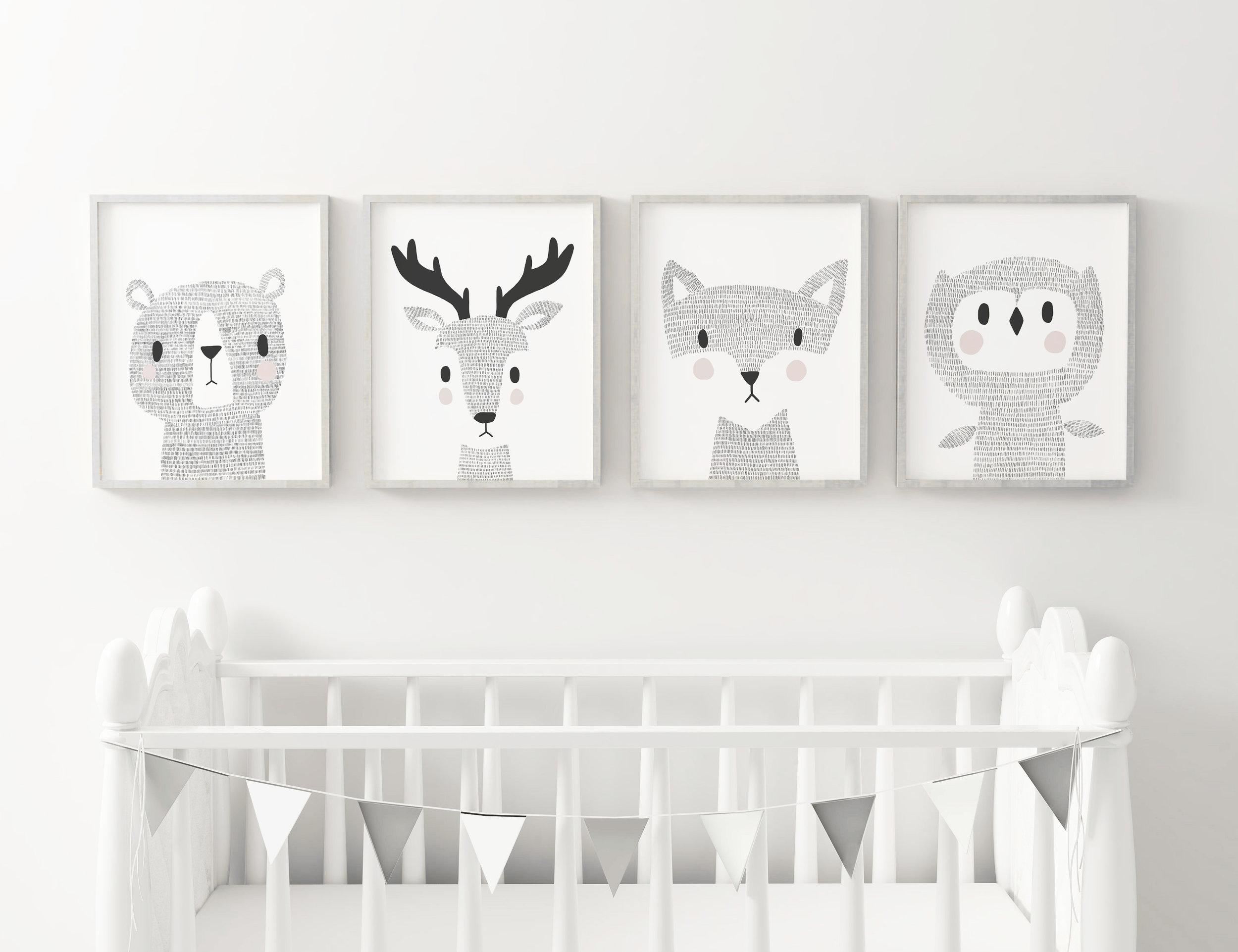 Alice Potter's woodland animal illustrations