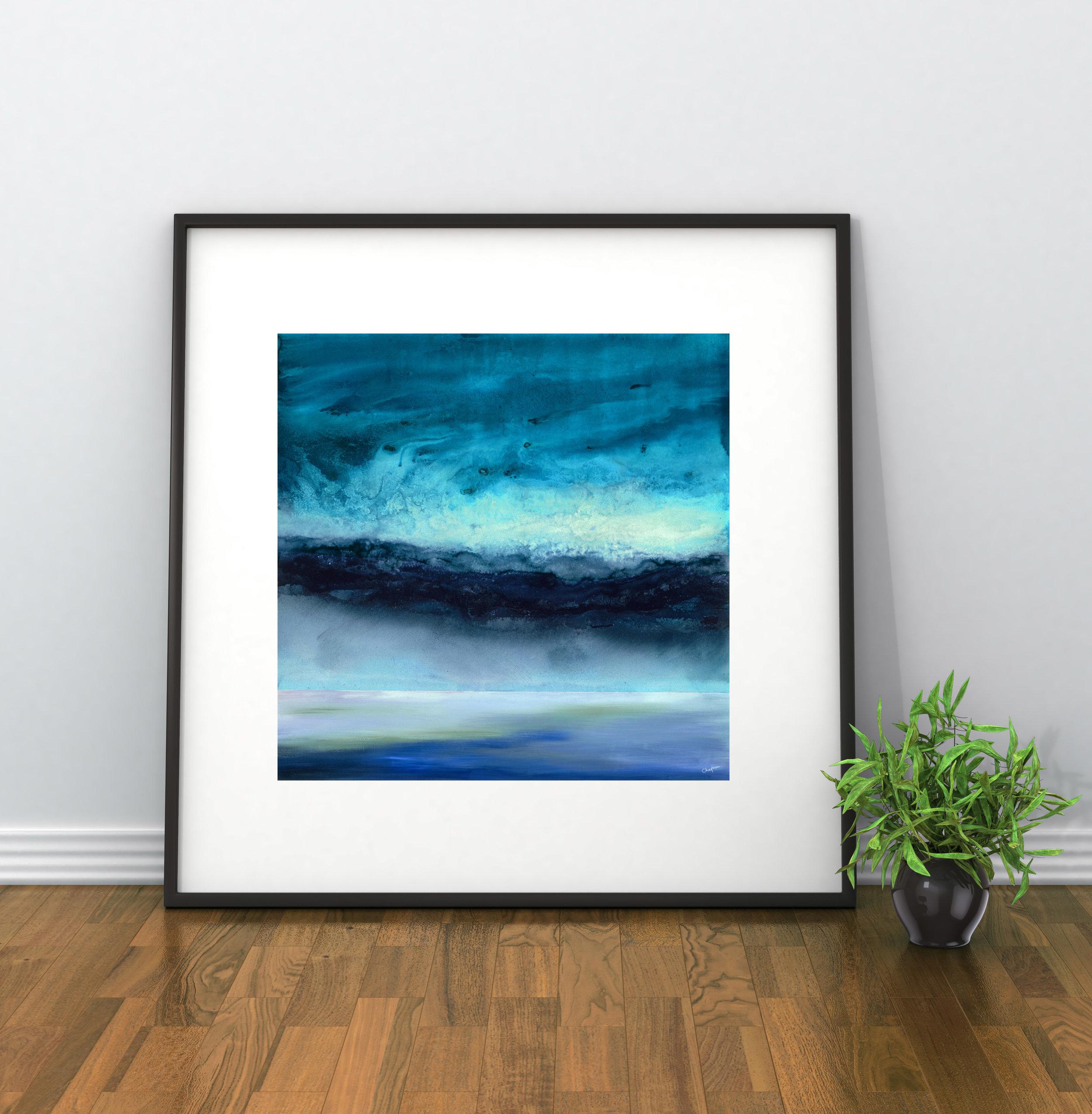 'Resonate' seascape giclée print by Robbie Chapman