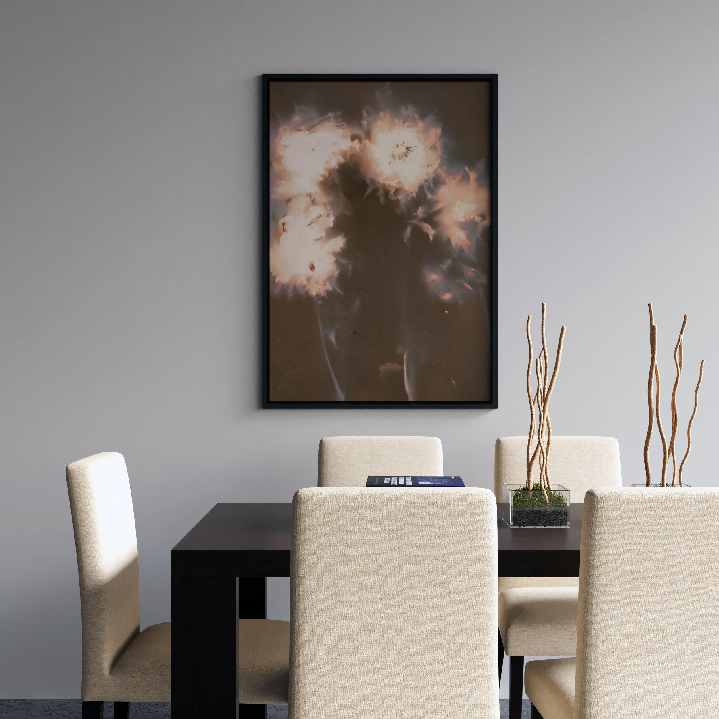 'Explosion' botanical lumen print by Krista McCurdy