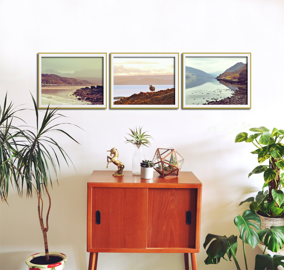 Set of 3 landscape photographic prints by Aga Farrell