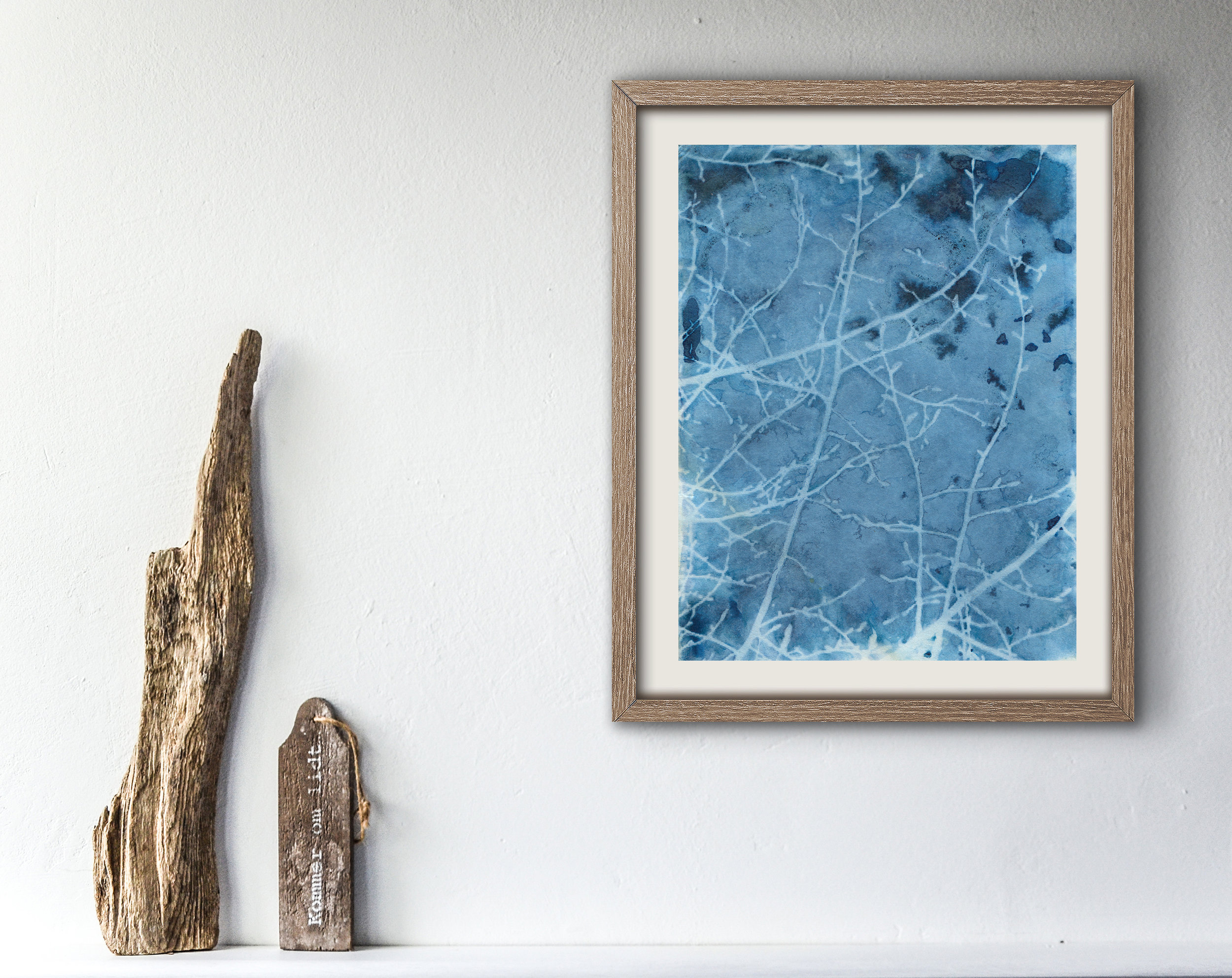 'Crackled' Cyanotype Print by Krista McCurdy