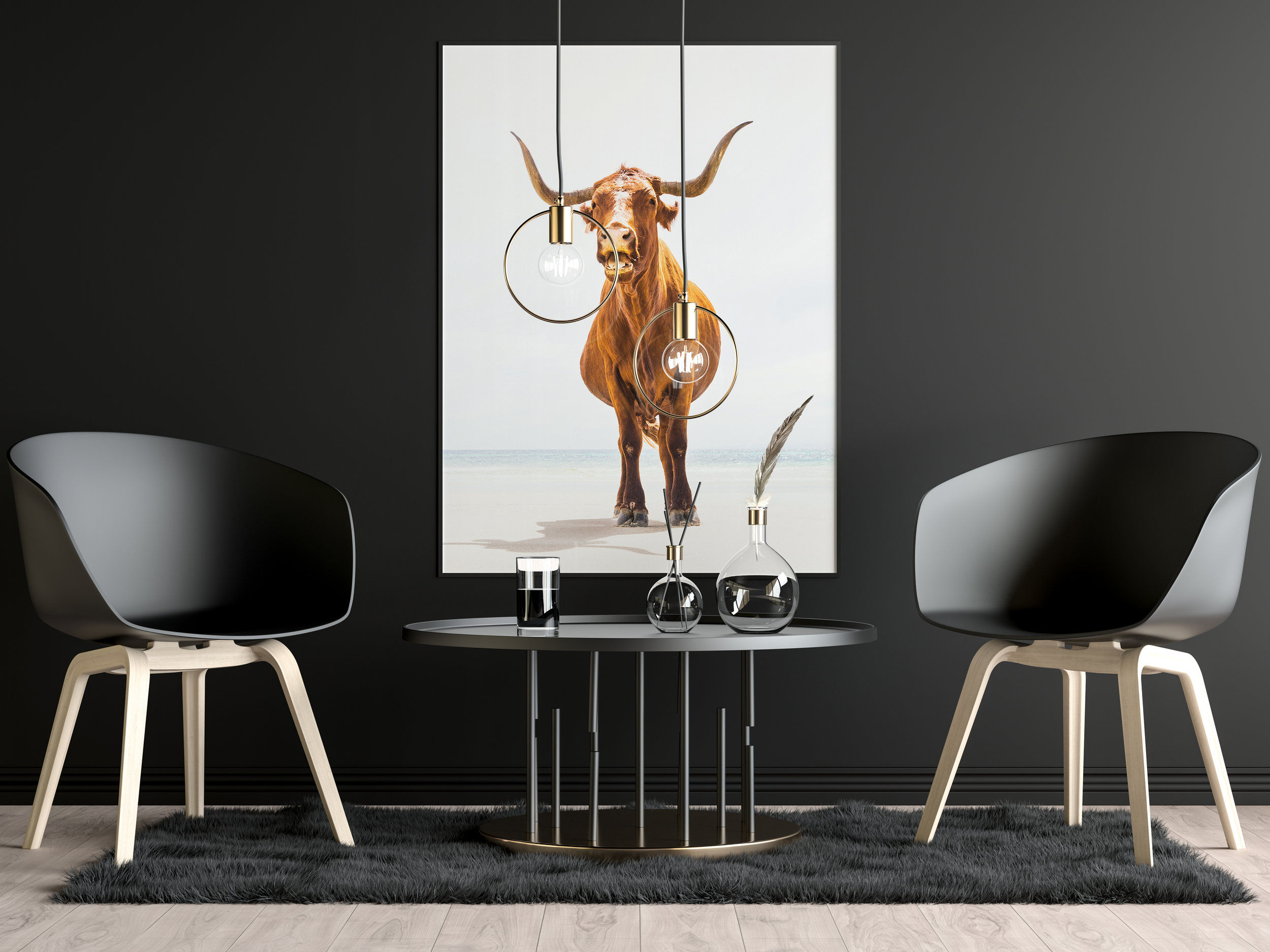 'Beach Cow' Photographic print by Andrew Lever
