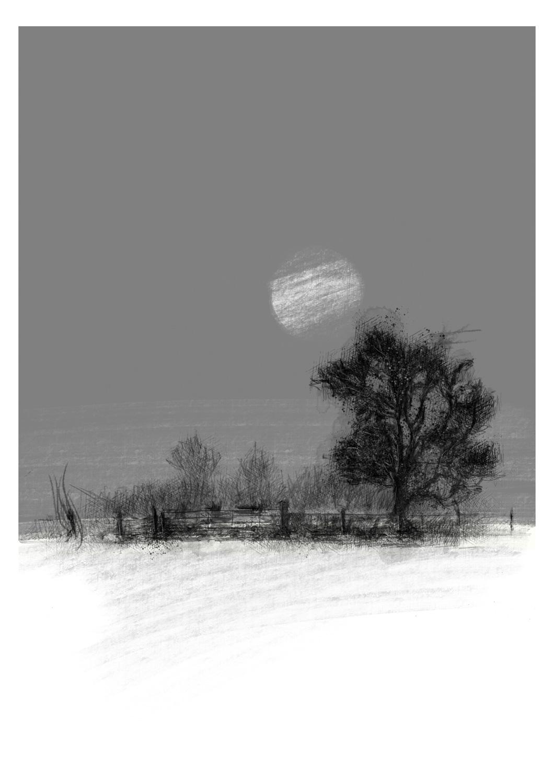Limited Edition Moonlit Landscape Giclée Print