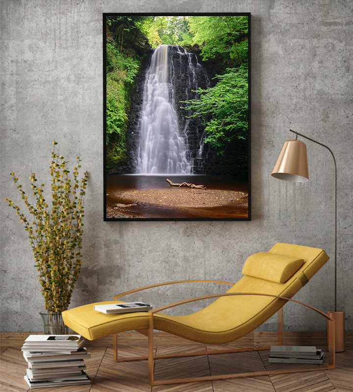 Falling Foss Yorkshire Waterfall photographic print by Stuart Swies
