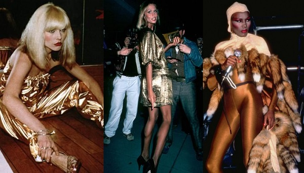 Gold Lame Outfits Seen on Celebrities At Studio 54