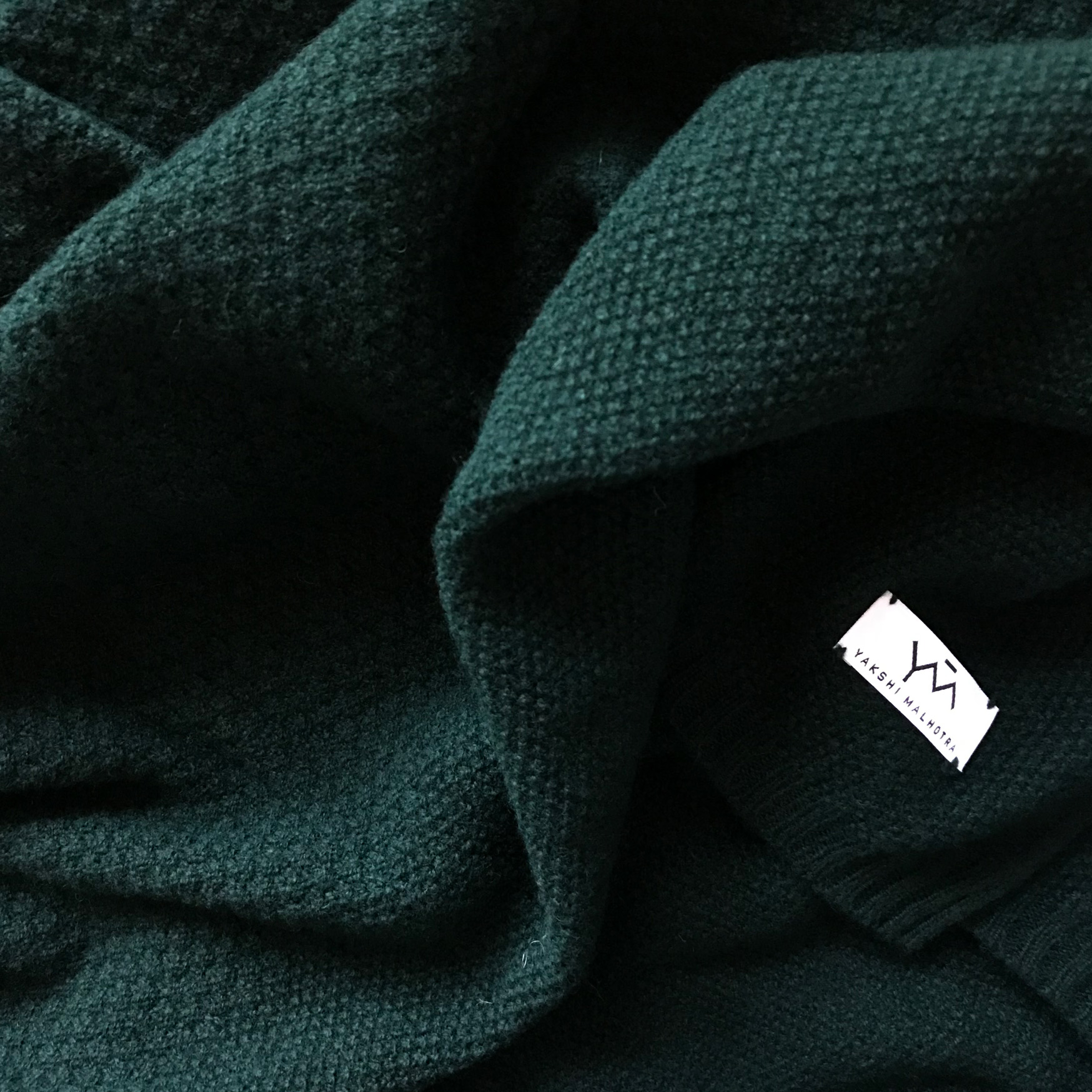 FOREST GREEN  LAMBSWOOL SCARF UK