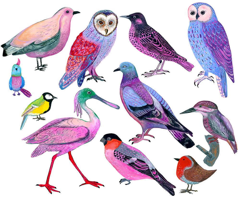 Animals, birds | self-initiated project Home Decor Course Lilla Rogers Studio