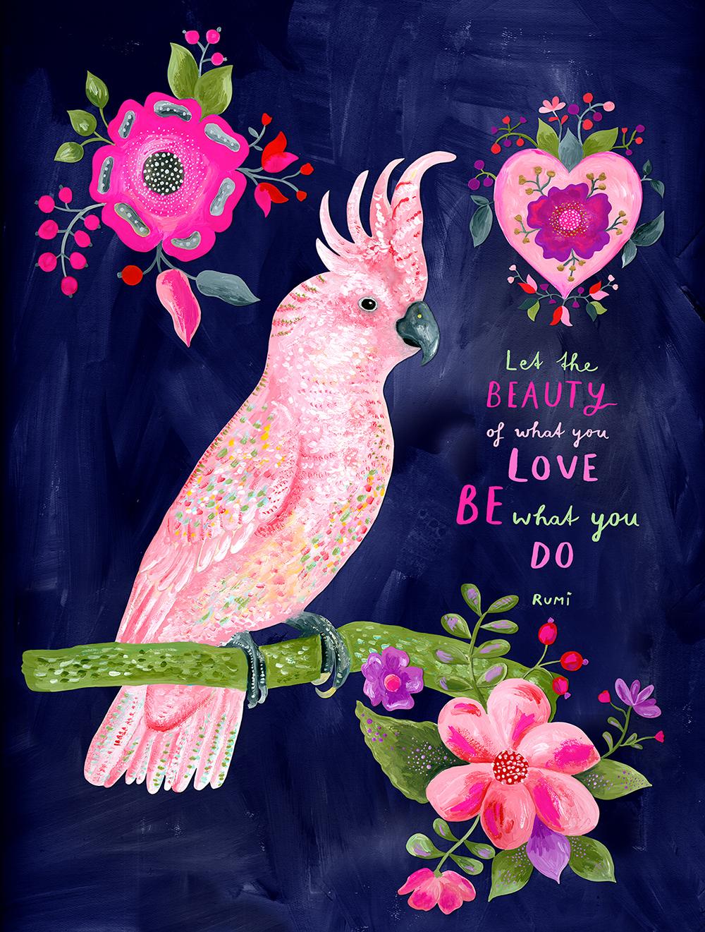 marenthe illustration, cockatoo for Trader Joe's.jpg