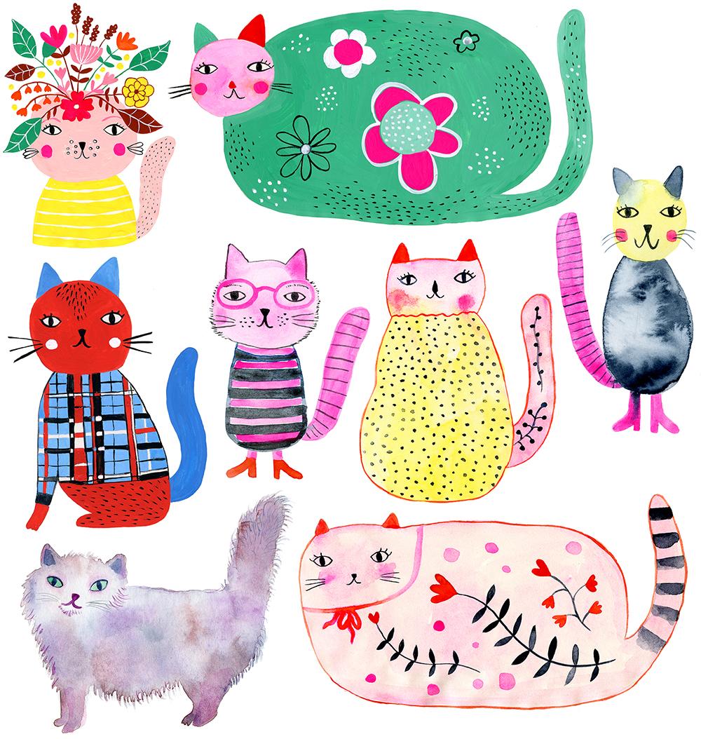 marenthe illustration series of cats.jpg