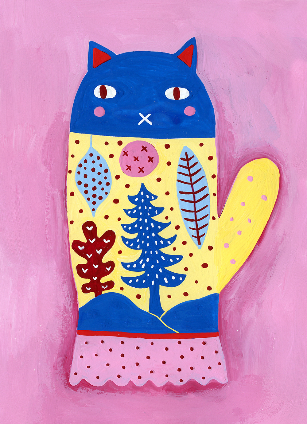 Art Menagerie 2018 Lilla Rogers Christmas cat by Marenthe.jpg