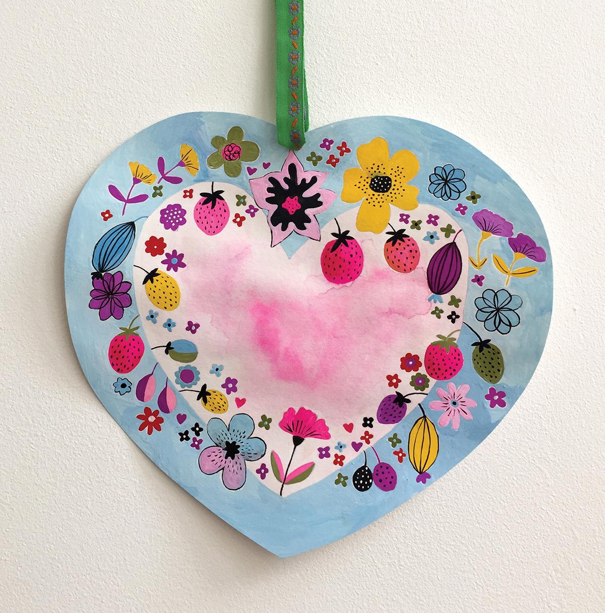Painted Heart, Creative Folk Art & Beyond, client:Quarto  Walter Foster.jpg