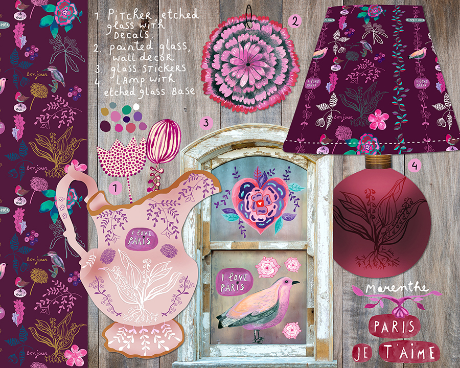 Marenthe Paris Love Nest Collection Home Decor glass.jpg