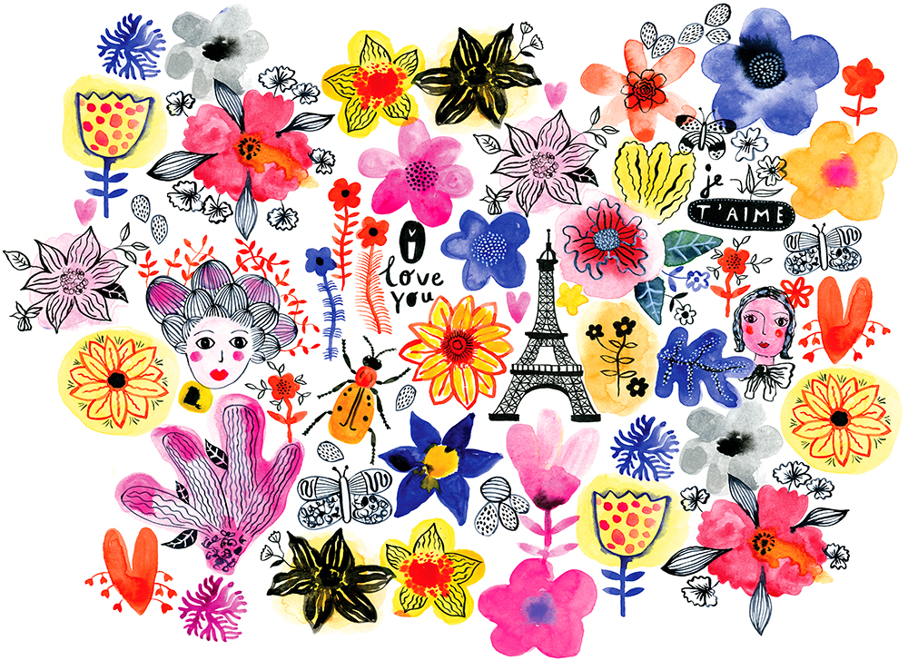 Paris Flower Pattern by Marenthe.jpg