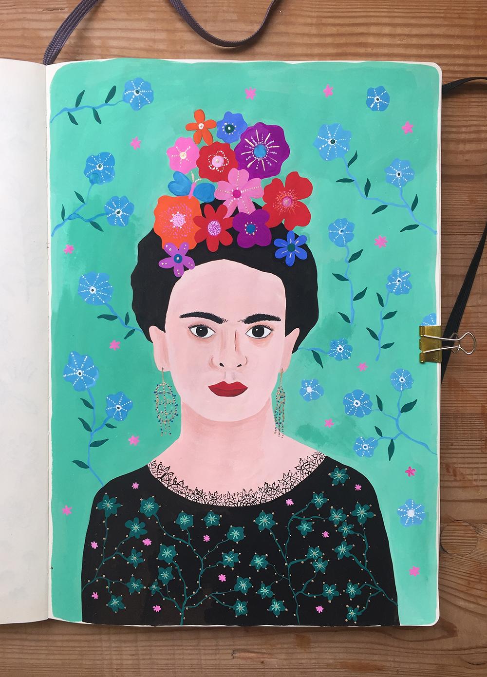 Frida Kahlo illustration by Marenthe