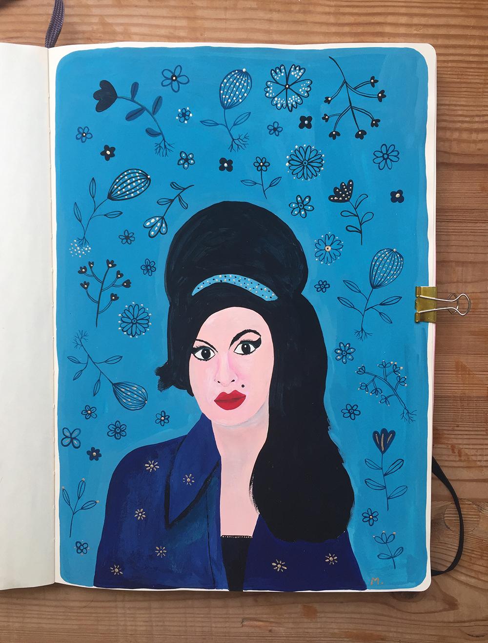 Amy Winehouse illustration by Marenthe