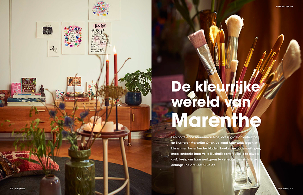 pagina 1 Happinez Marenthe interview.jpg