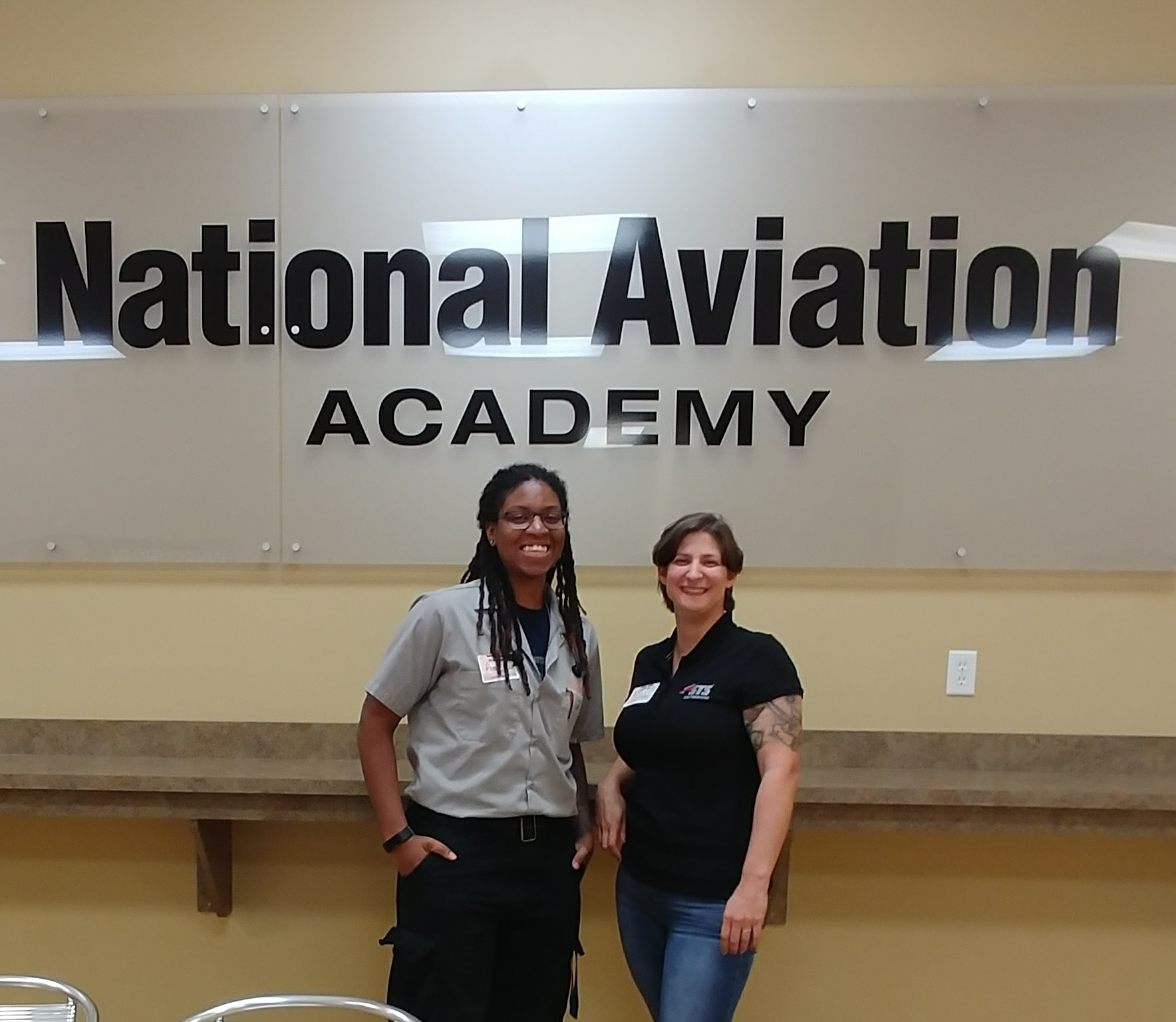 Reese Scott and Stacey Rudser visit NAA
