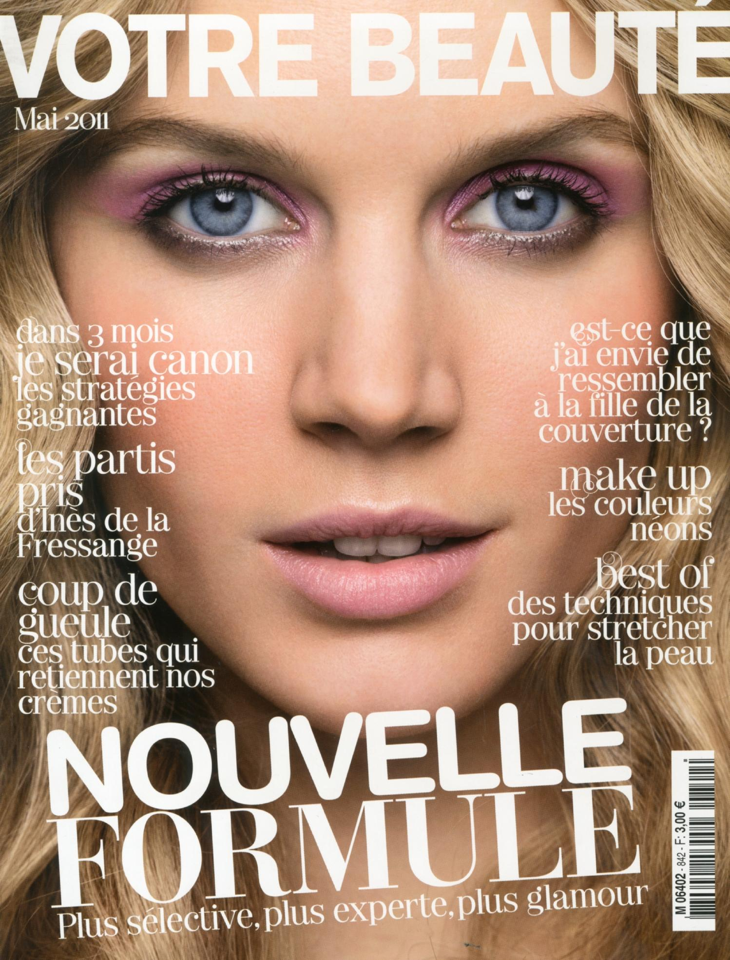 Jayne Moore steals the cover of Votre Beaute Magazine with Frederick Farre