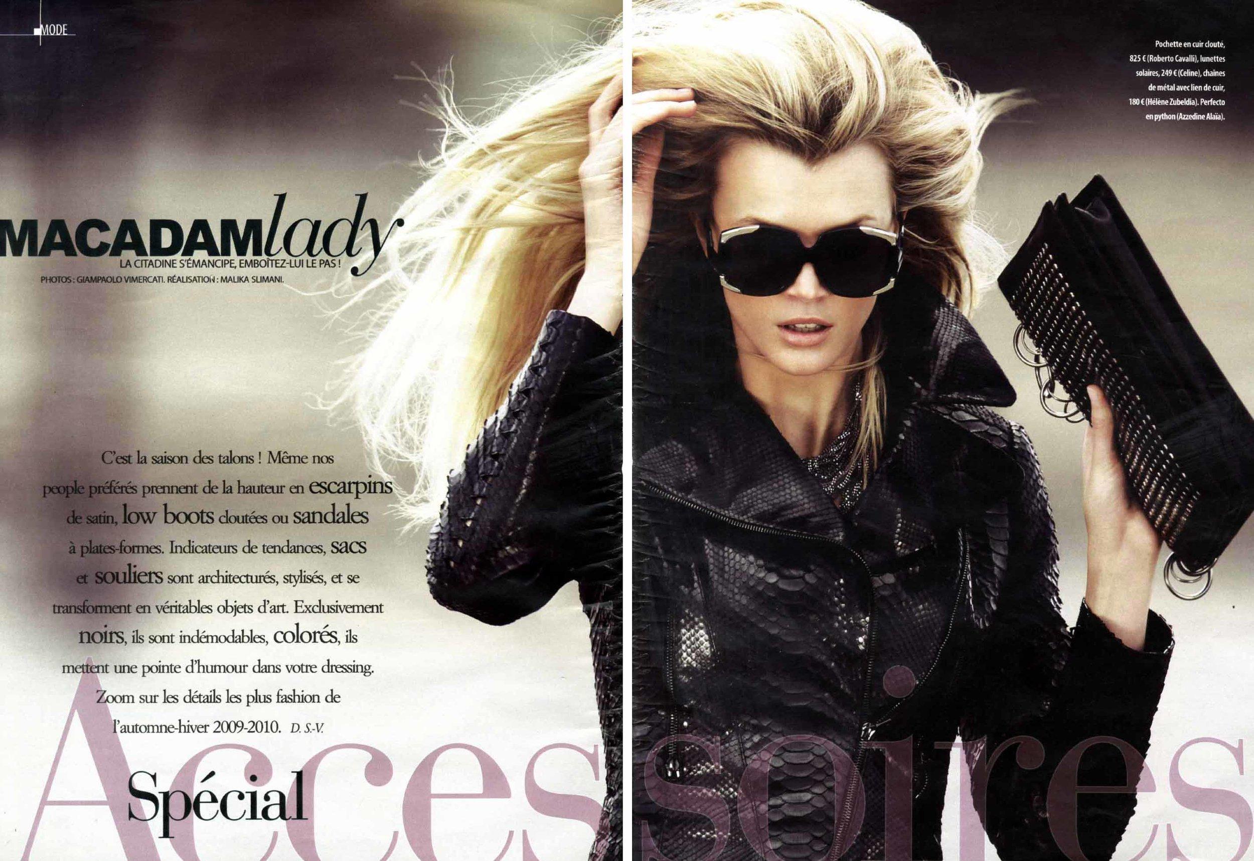 A Mode Magazine Paris Model Jayne Moore writer Jayne moore amazing hair channel suit running through paris