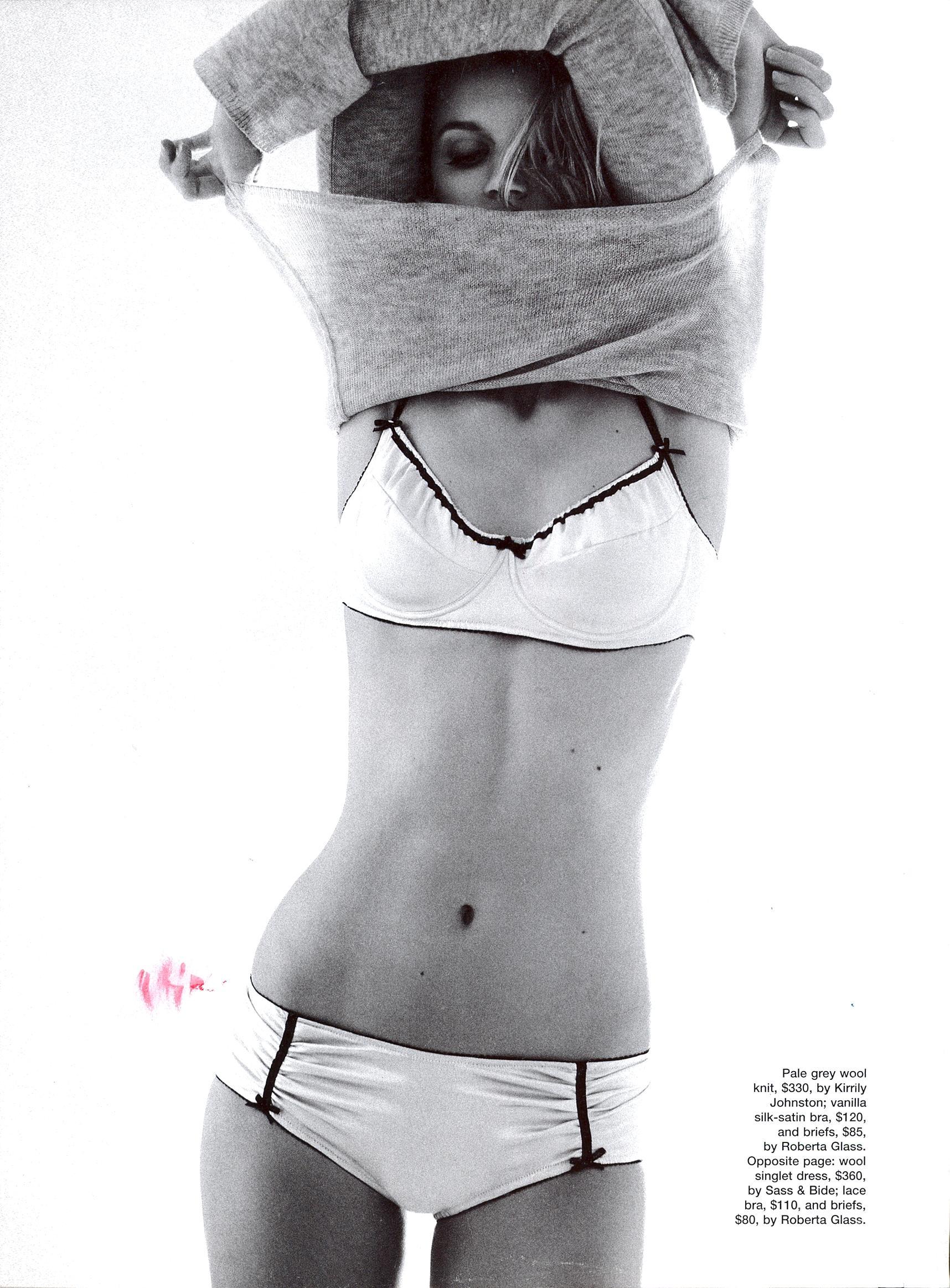 Jayne Moore for Australian Elle Marianne faithfull fashion story shot by Pamela Hanson  cute cashmere knit undressing elegant lingerie elle magazine pamela hanson
