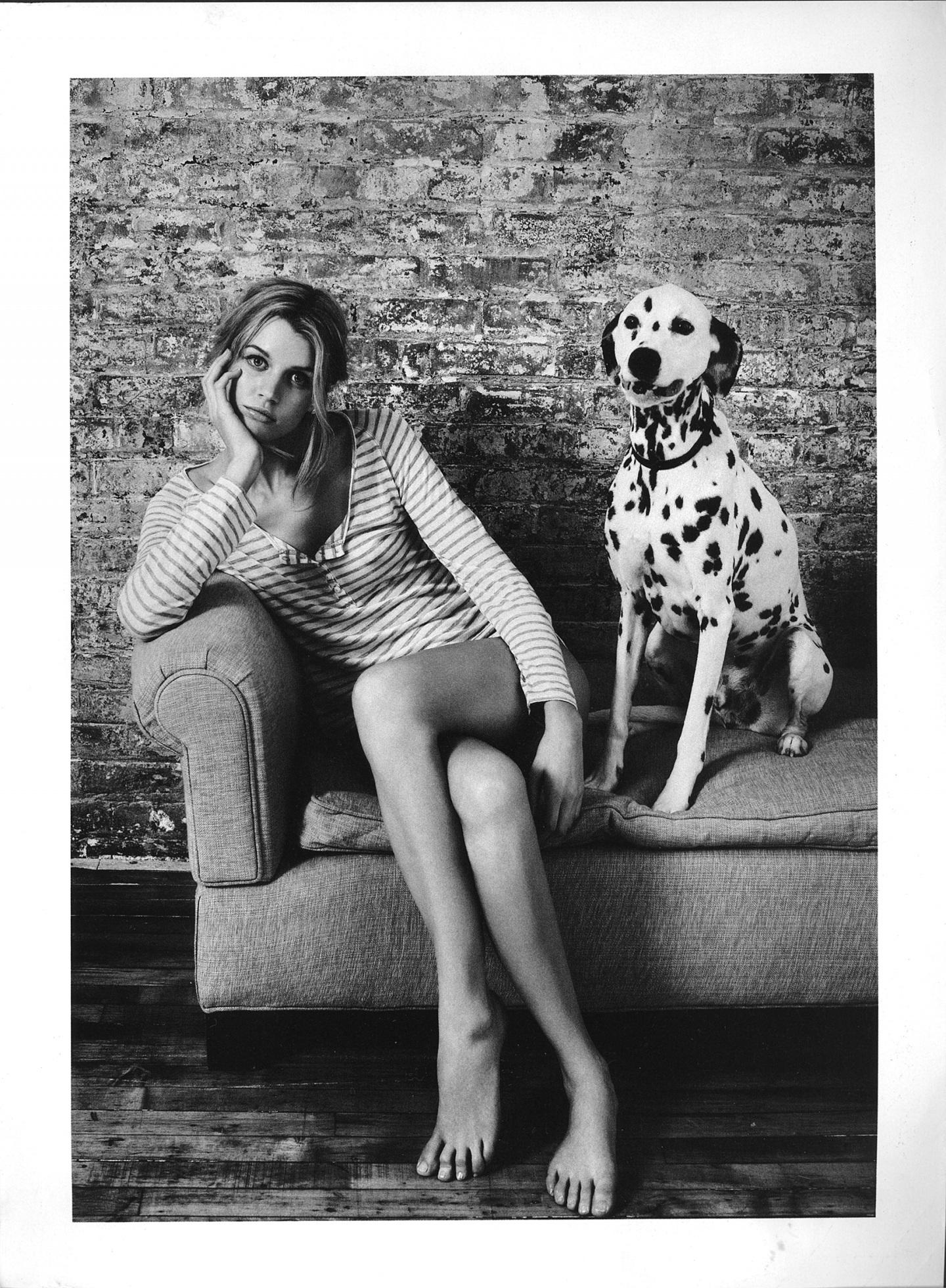 Jayne Moore for Australian Elle Marianne faithfull fashion story shot by Pamela Hanson  Sptty dog Dalmatian bedroom chic casual style