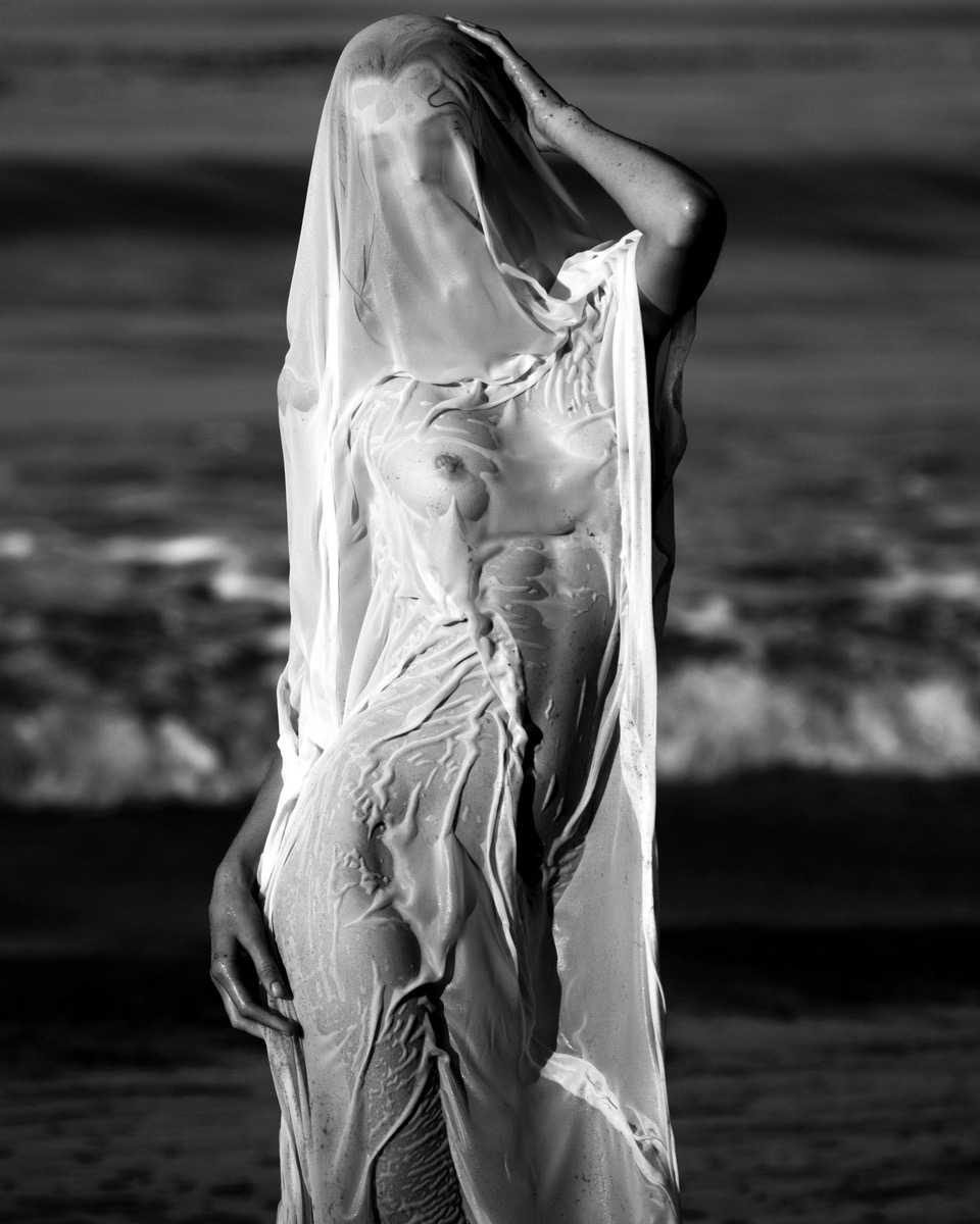 tyler kandel shoots Jayne Moore dramatic beach story in malibu dance at sunrise
