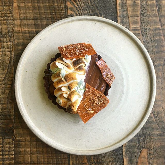 Sometimes you just need an Old School sweet treat! . . Check our our Mississippi Mud Pie with marshmallow meringue, chocolate short crust and pecan. . . See you tomorrow afternoon from 3