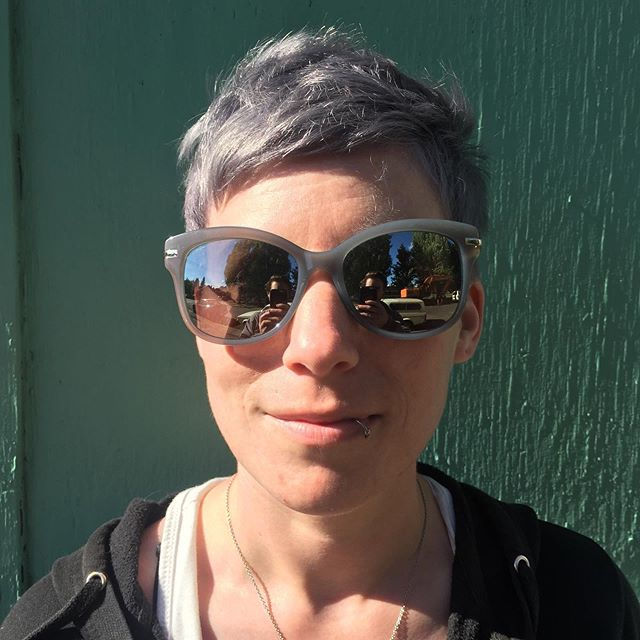 This is my sister, Marah. She wants lavender-grey hair 👩🦳 . What are big bros for?? Before (2nd pic) & After. #nofilter #pixiecut #pdxstylist #portland #keunecolor