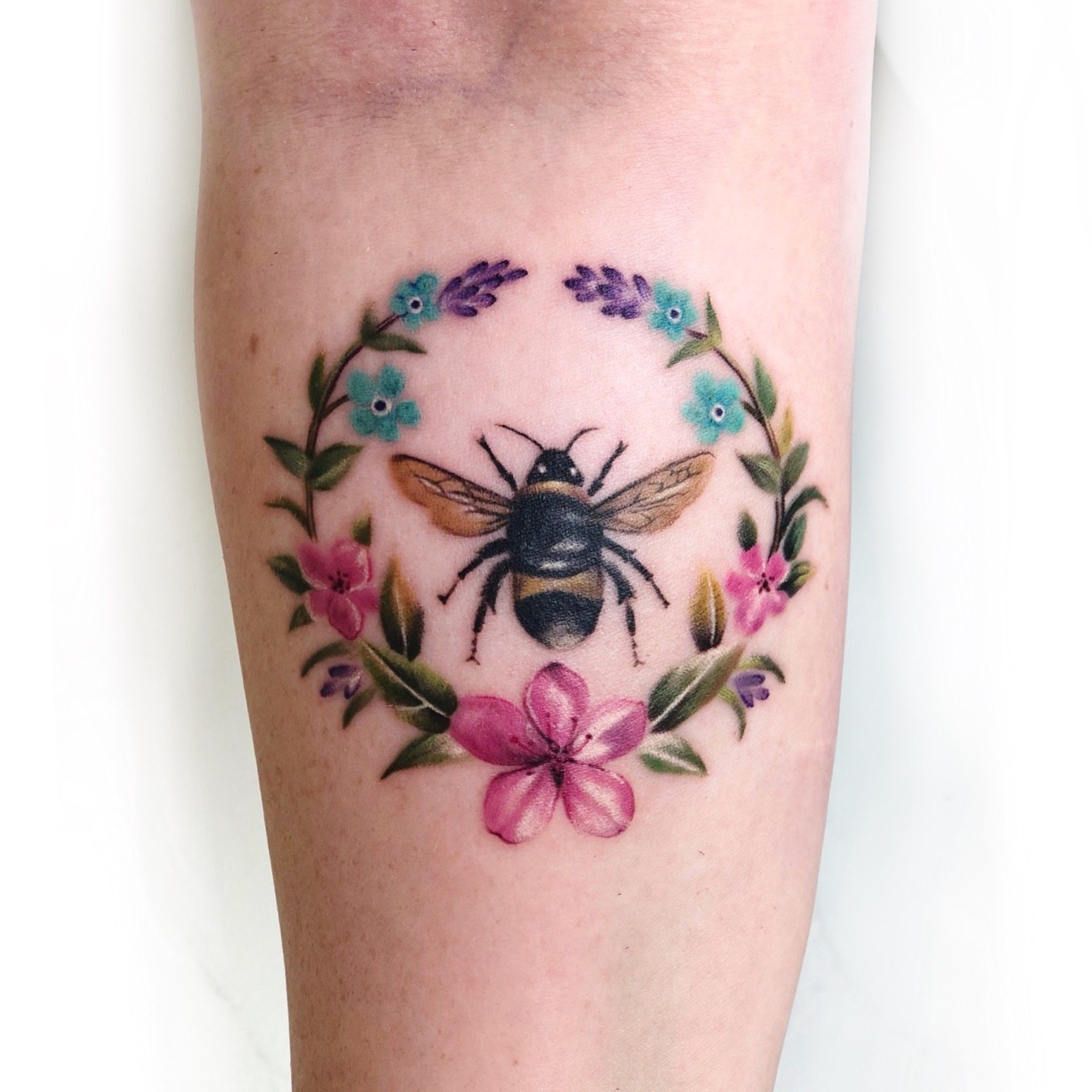 Bee with Flowers