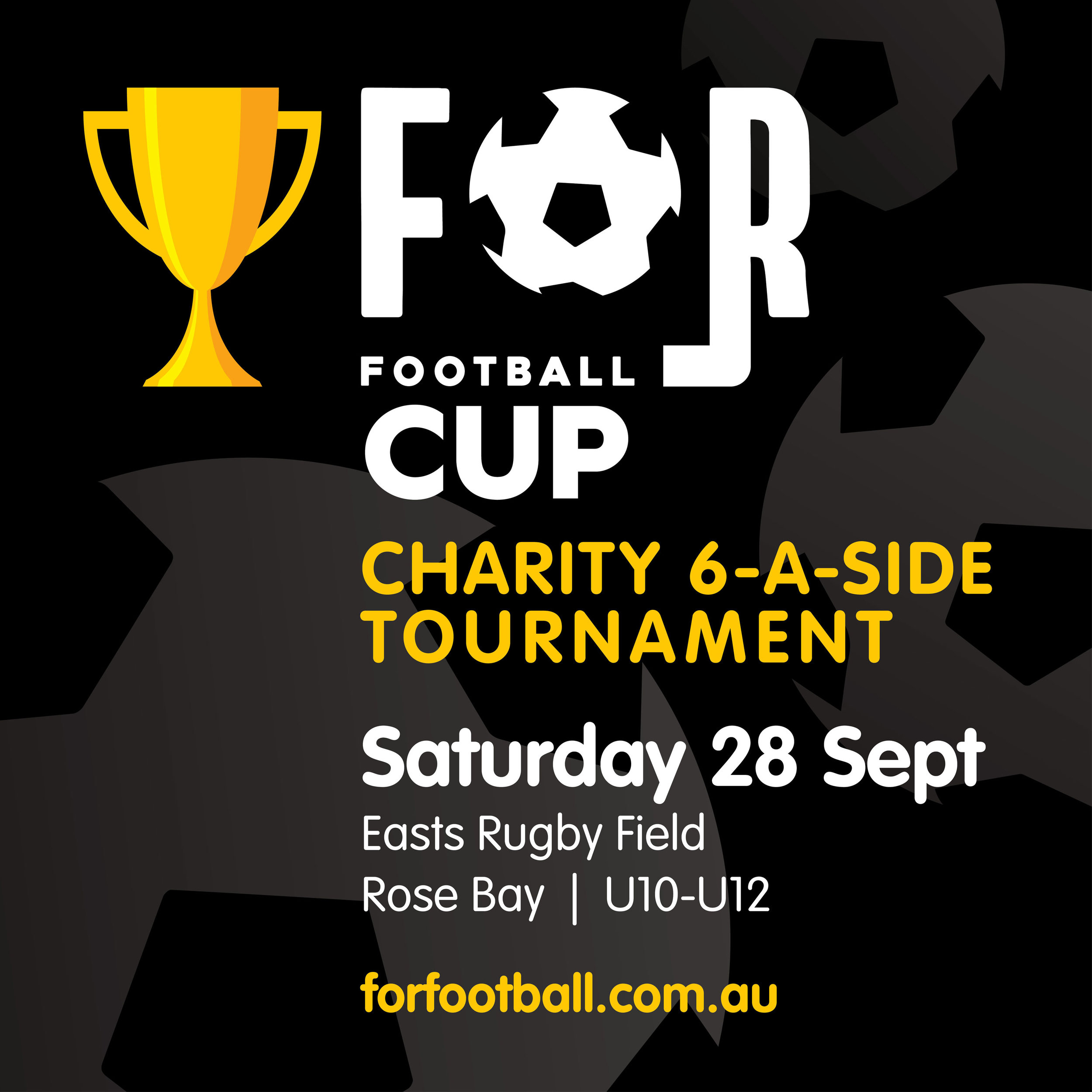 To register for the For Football Charity Tournament click here. -