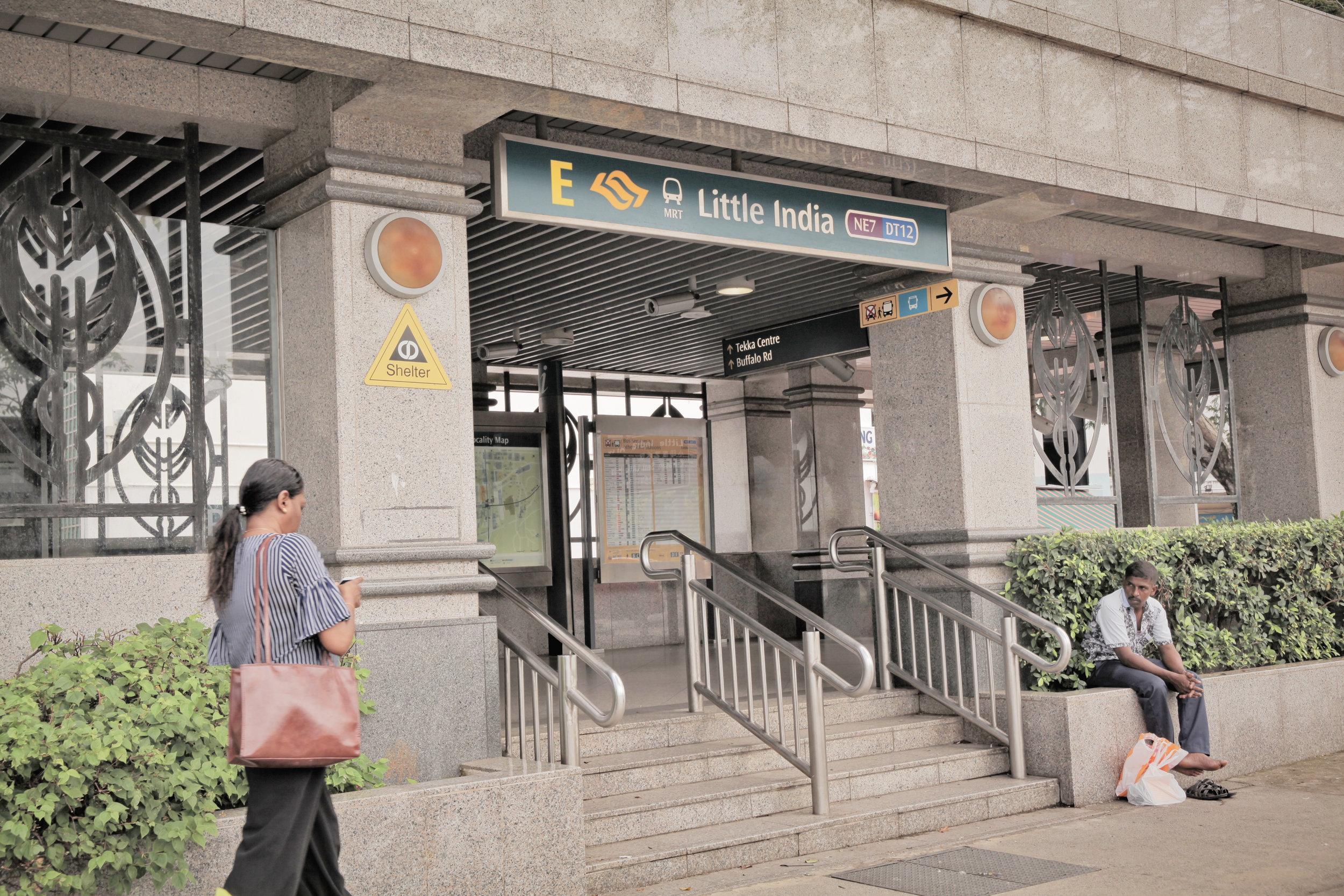 2. Leave  Little India Station  via  EXIT E