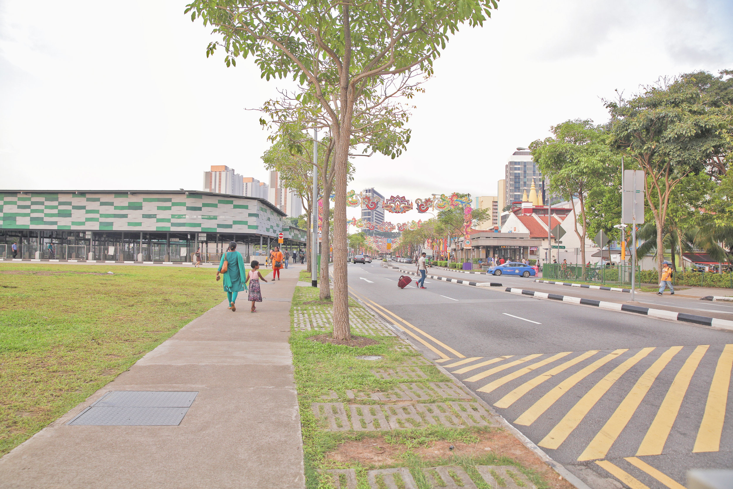 """2.  Turn left and follow the walkway.  LOOK OUT FOR LITTLE INDIA MRT EXIT E. 3.  Follow further instructions  """"BY TRAIN""""  below."""