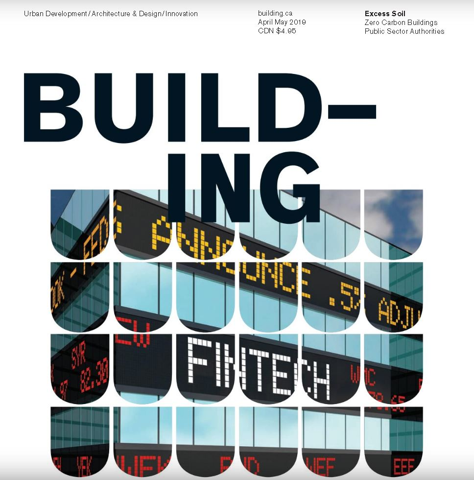 "Building Magazine - April/May 2019 issue pg 41-43Found timber has been reclaimed as a feature wall, while polished concrete floors contribute natural aesthetics of the space. ""My childhood fossil collection is included in that floor"" says Wilson of the tactile and colourful bits of debris(…) If successful in its pursuit of efficiency, the centre will be among Canada's first buildings to be verified as Zero Net Energy by the NBI."
