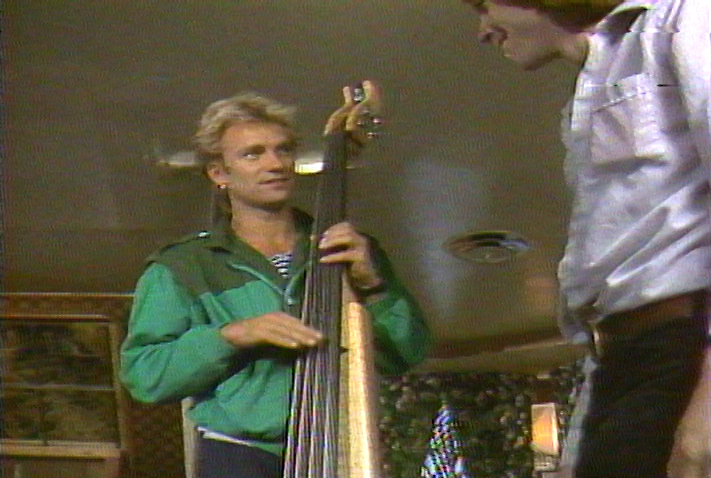 Sting, of The Police with Michael