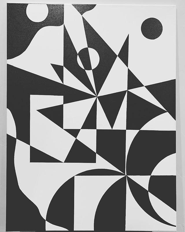 "My mind on canvas ☺️ 36"" x 48"" #abstract #abstractart #geometric #oiloncanvas #oilpainting #utahart #utah #parkcity #nycart #newyork #flow"