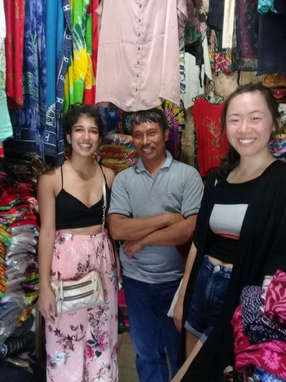 When Wayan took us to his sisters store in Sukawati Art Market