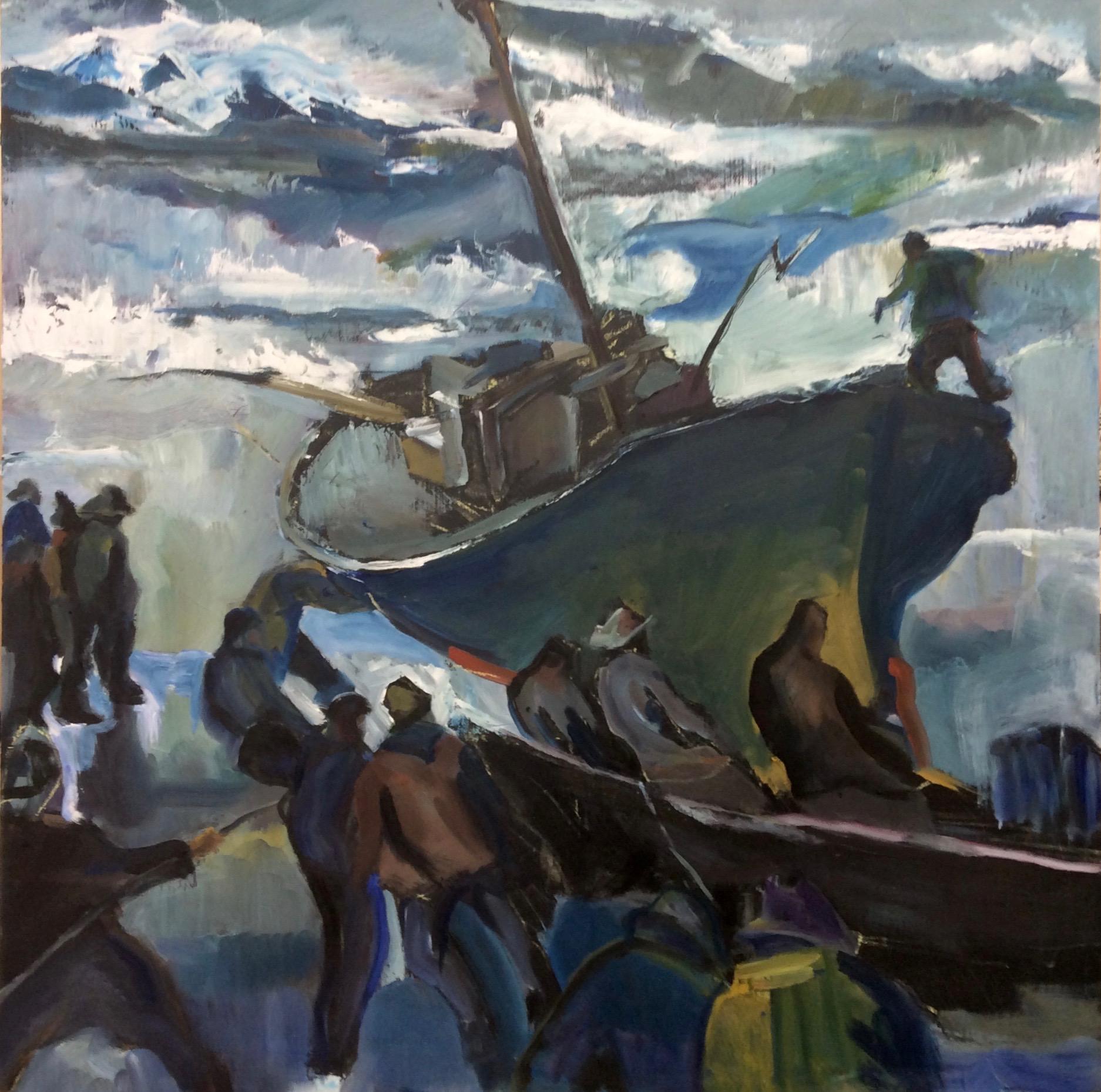 Conversations with a Master: Armin Hansen   Oil  24 x24