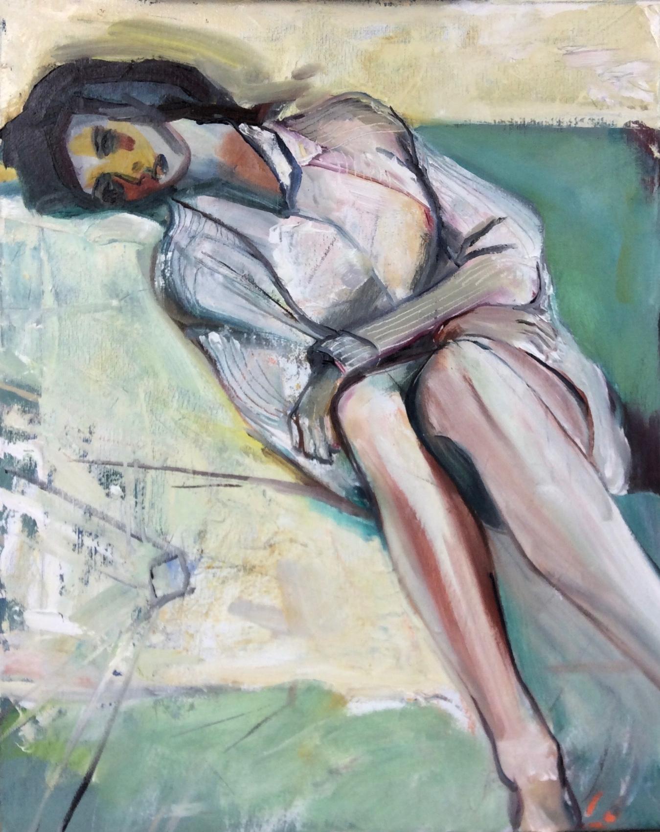 Conversation with a Master/Diebenkorn   Oil  16 x12