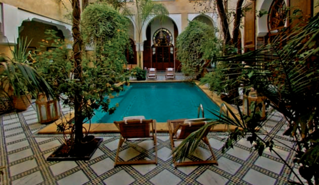 Beautiful Riads, a traditional Moroccan home or palace, make for a unique hotel stay.